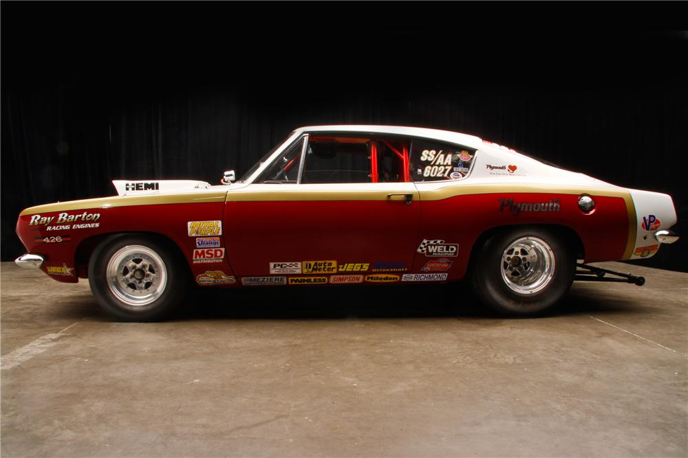 1968 PLYMOUTH BARRACUDA SUPER STOCK FASTBACK - Side Profile - 114602