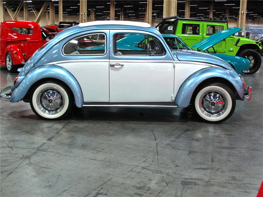 1963 VOLKSWAGEN BEETLE RAG TOP - Side Profile - 115176