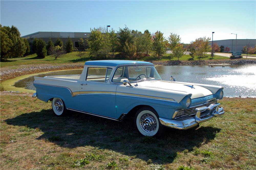 1957 FORD RANCHERO PICKUP - Side Profile - 115897