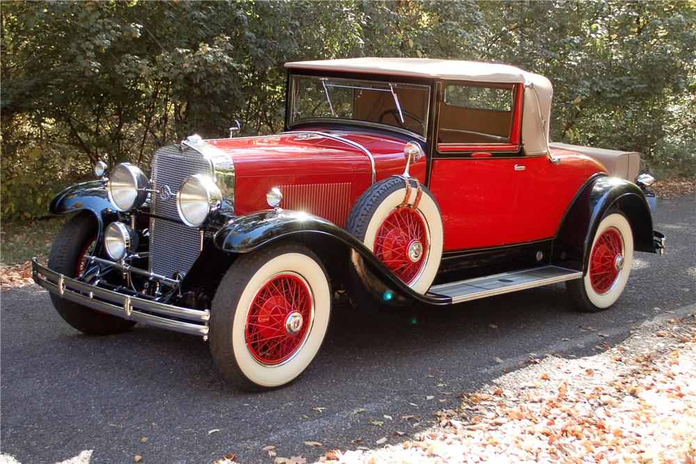 1929 LASALLE CONVERTIBLE COUPE - Front 3/4 - 115909