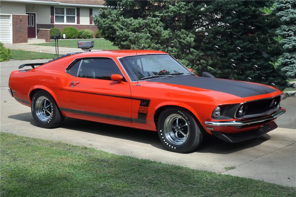 1969 Ford Mustang Mach 1 428 Cobra Jet For Sale >> 1969 FORD MUSTANG BOSS 302 FASTBACK