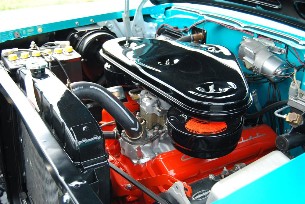 1957 CHEVROLET BEL AIR CONVERTIBLE - Engine - 115923