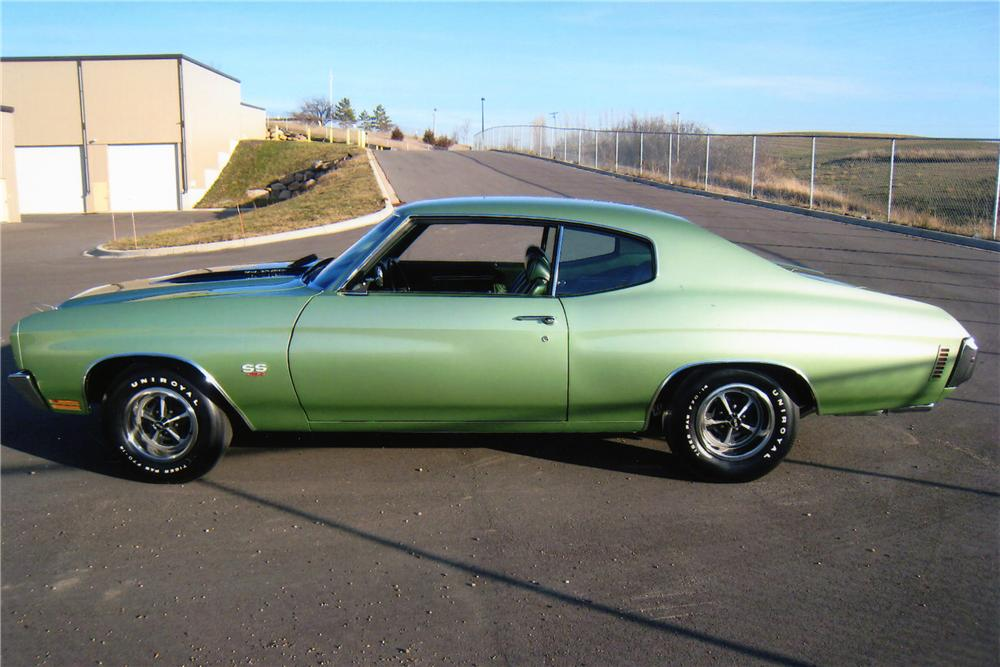 1970 CHEVROLET CHEVELLE LS6 SS 2 DOOR COUPE - Side Profile - 115924
