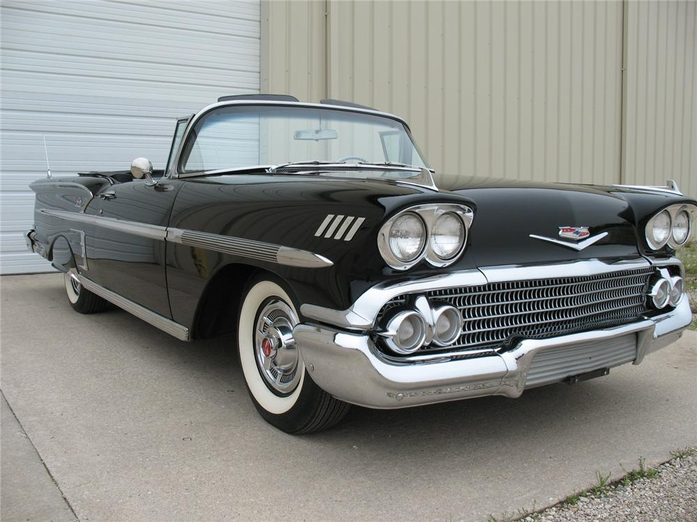 1958 CHEVROLET IMPALA CONVERTIBLE - Front 3/4 - 115925