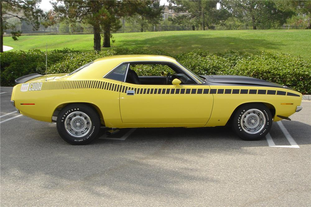 1970 PLYMOUTH CUDA AAR 2 DOOR COUPE - Side Profile - 115929