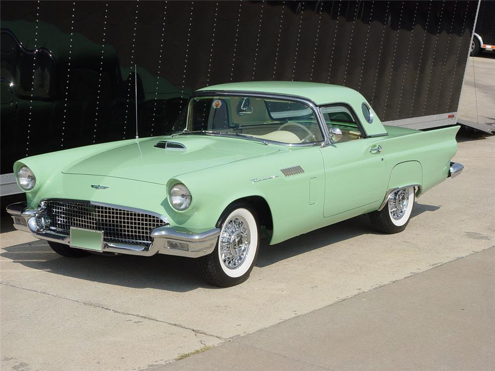 1957 FORD THUNDERBIRD CONVERTIBLE - Side Profile - 115943