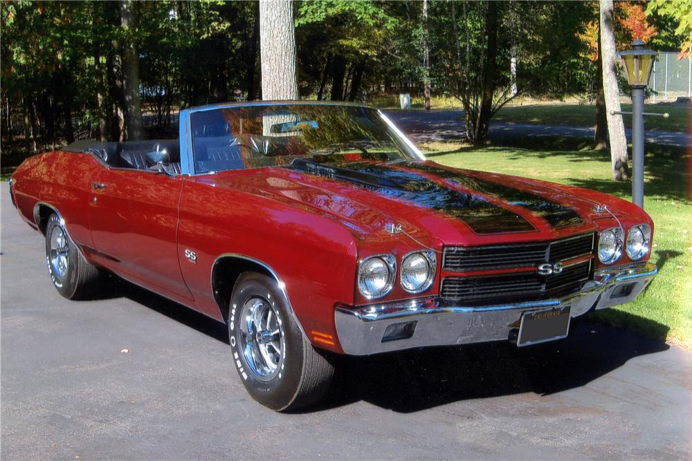 1970 CHEVROLET CHEVELLE SS LS5 CONVERTIBLE - Front 3/4 - 115947