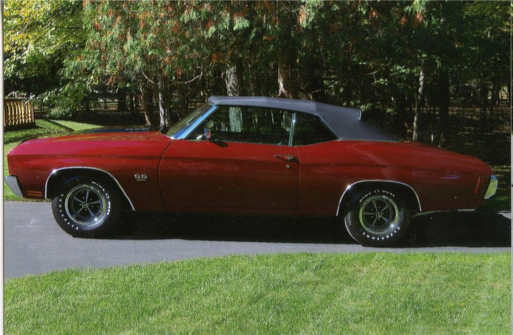 1970 CHEVROLET CHEVELLE SS LS5 CONVERTIBLE - Side Profile - 115947