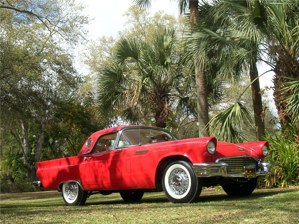 1957 FORD THUNDERBIRD CONVERTIBLE - Front 3/4 - 115949