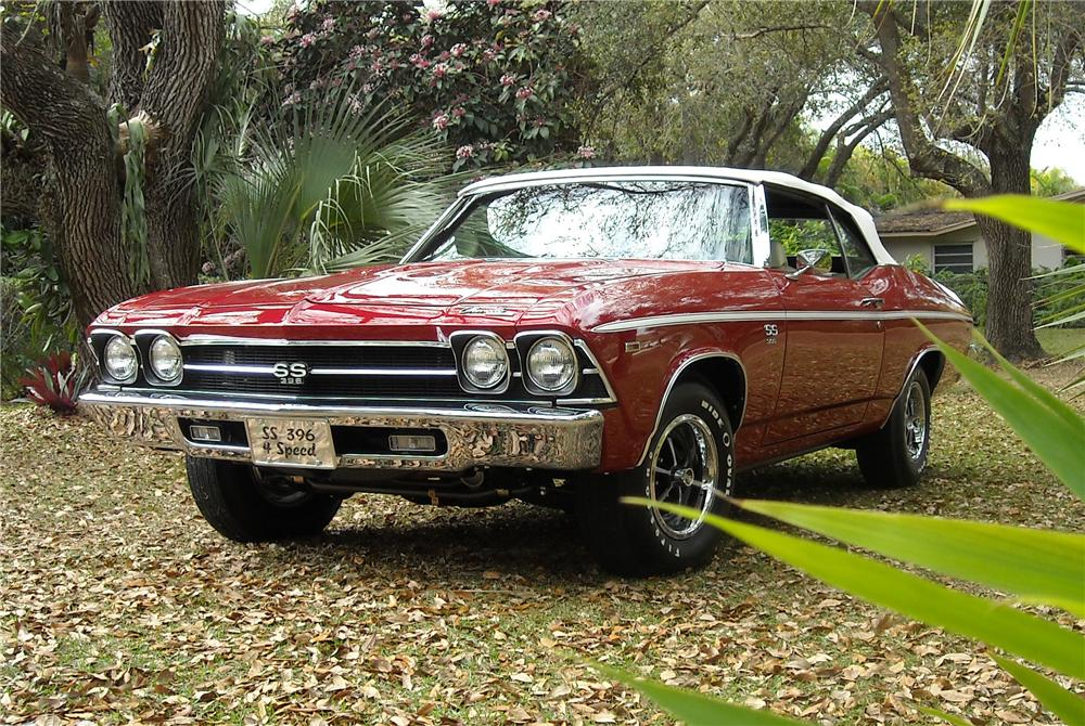 1969 CHEVROLET CHEVELLE CONVERTIBLE - Front 3/4 - 115955