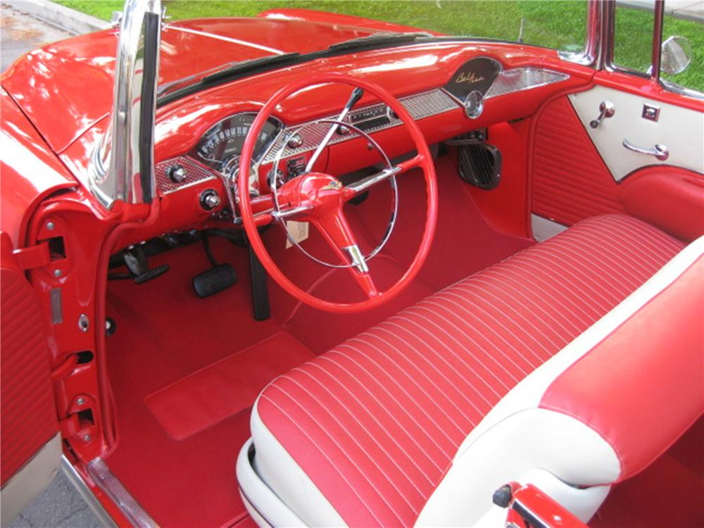 1955 CHEVROLET BEL AIR CONVERTIBLE - Interior - 115964