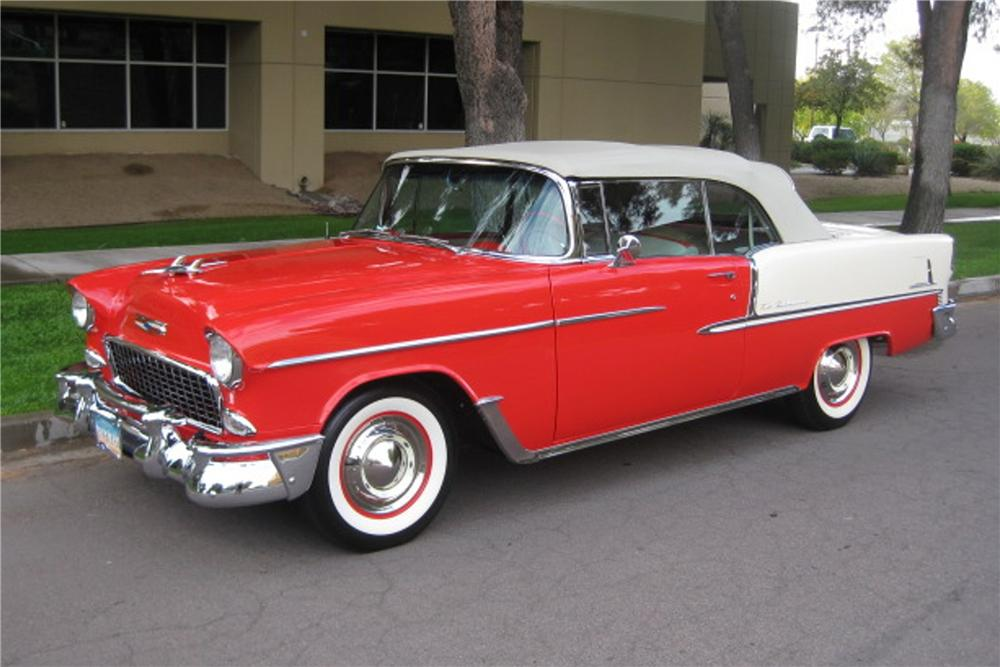 1955 CHEVROLET BEL AIR CONVERTIBLE - Side Profile - 115964