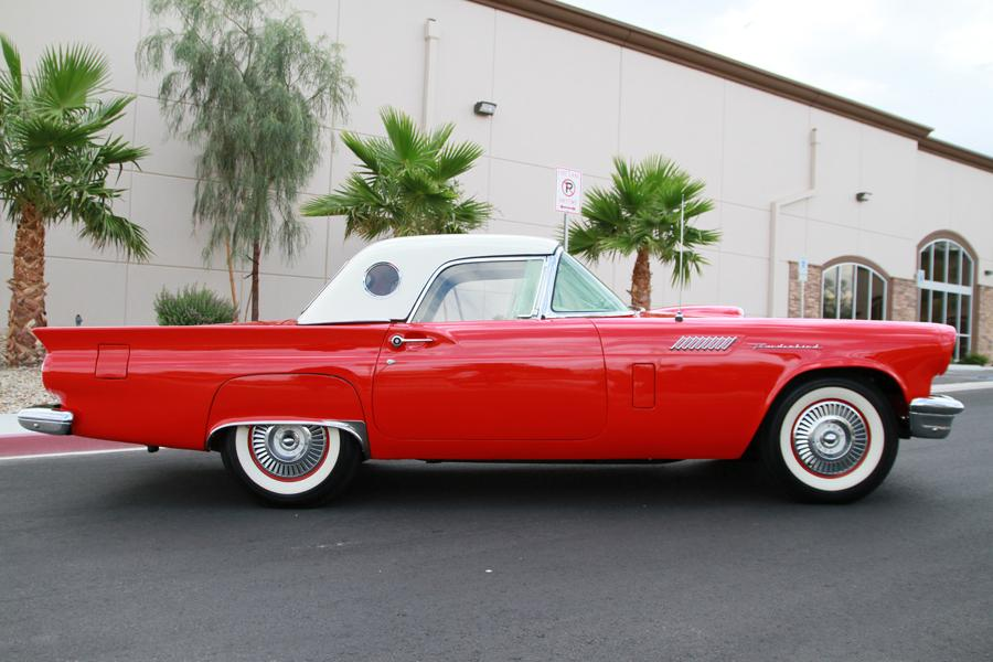 1957 FORD THUNDERBIRD E CONVERTIBLE - Side Profile - 115973