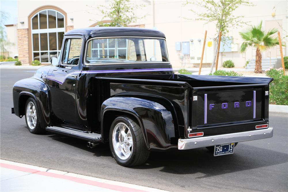 1956 FORD F-100 CUSTOM PICKUP - Rear 3/4 - 115974