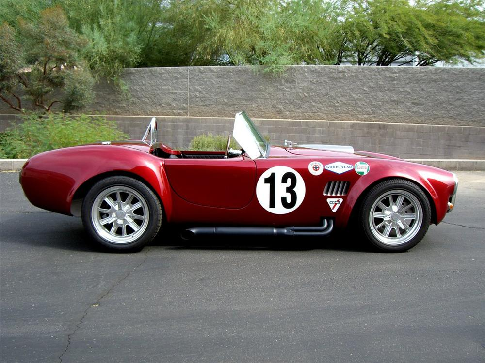 1966 SHELBY COBRA ROADSTER RE-CREATION - Side Profile - 115990