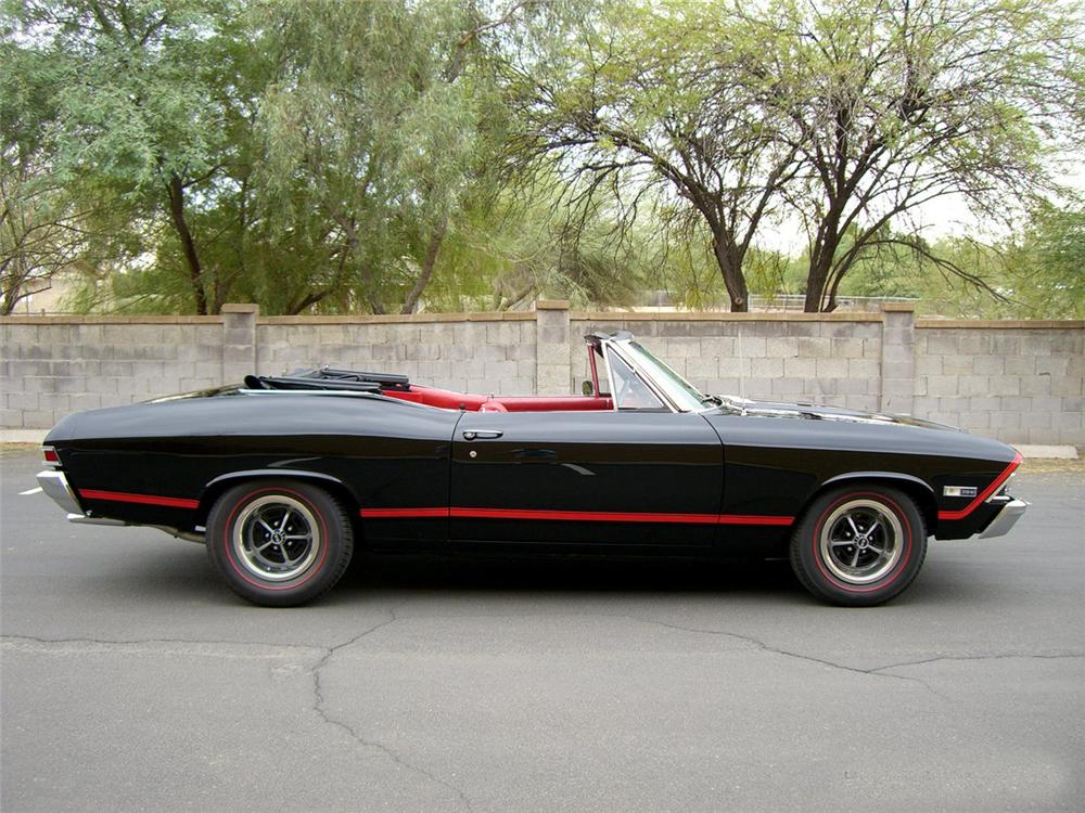 1968 CHEVROLET CHEVELLE CUSTOM CONVERTIBLE - Side Profile - 115992