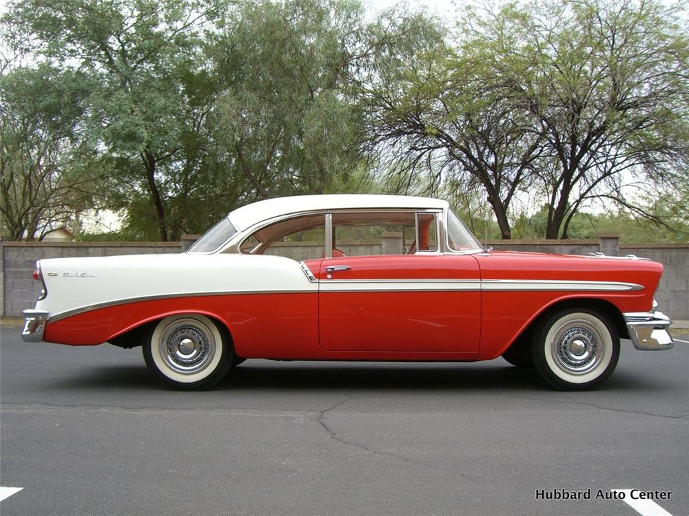 1956 CHEVROLET BEL AIR 2 DOOR HARDTOP - Side Profile - 115993