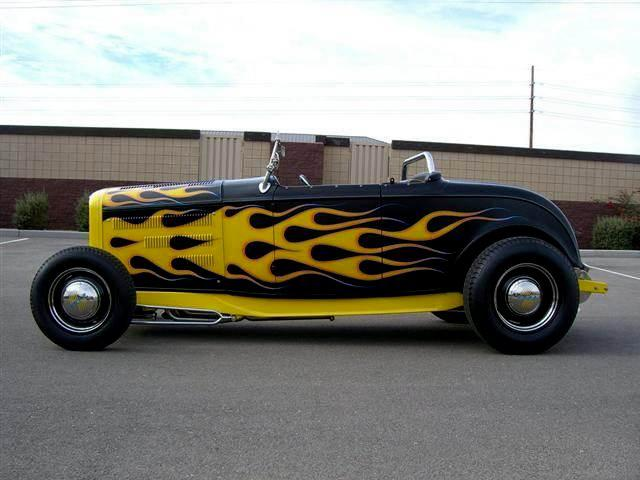 1932 FORD HI-BOY CUSTOM ROADSTER - Side Profile - 115994