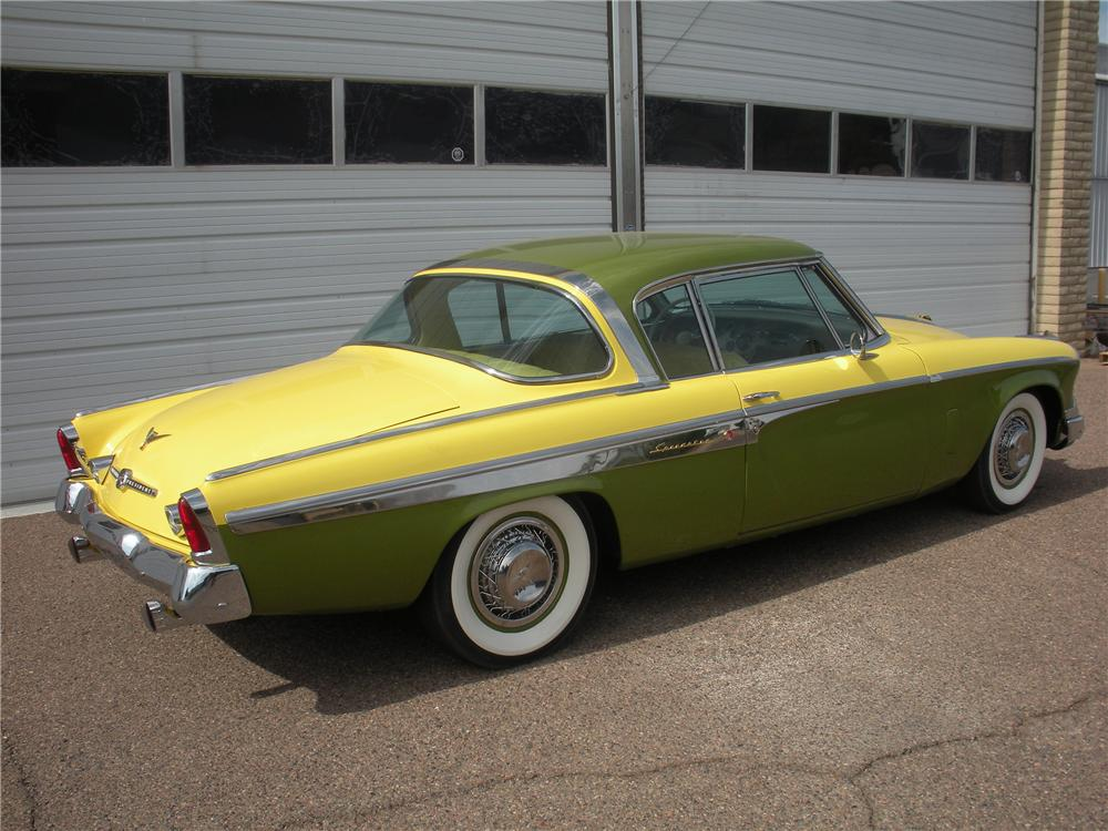 1955 STUDEBAKER SPEEDSTER 2 DOOR HARDTOP - Rear 3/4 - 116006