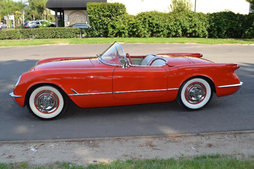 1955 CHEVROLET CORVETTE CONVERTIBLE - Side Profile - 116020