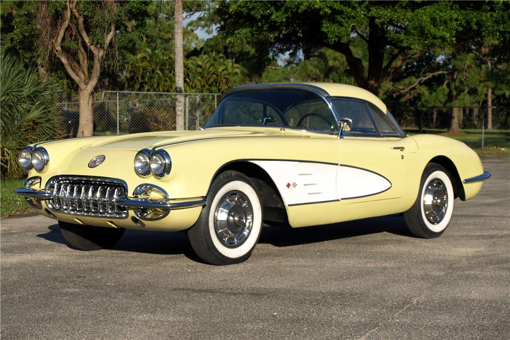 1958 CHEVROLET CORVETTE CONVERTIBLE - Front 3/4 - 116023