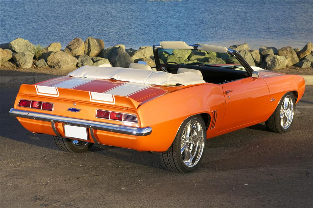 1969 CHEVROLET CAMARO CUSTOM CONVERTIBLE - Rear 3/4 - 116024