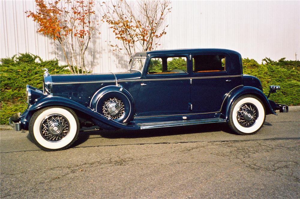 1931 PIERCE-ARROW MODEL 41 LEBARON SPORT SEDAN - Side Profile - 116044