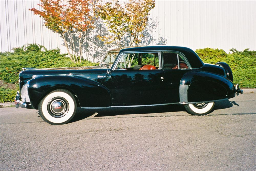 1941 LINCOLN CONTINENTAL 2 DOOR COUPE - Side Profile - 116049
