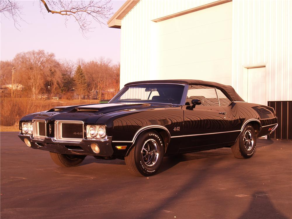 1971 OLDSMOBILE 442 CONVERTIBLE - Front 3/4 - 116058