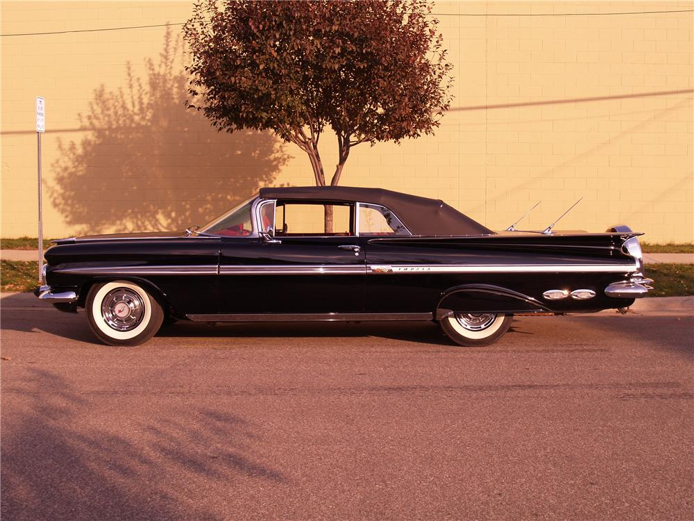 1959 CHEVROLET IMPALA CONVERTIBLE - Side Profile - 116062