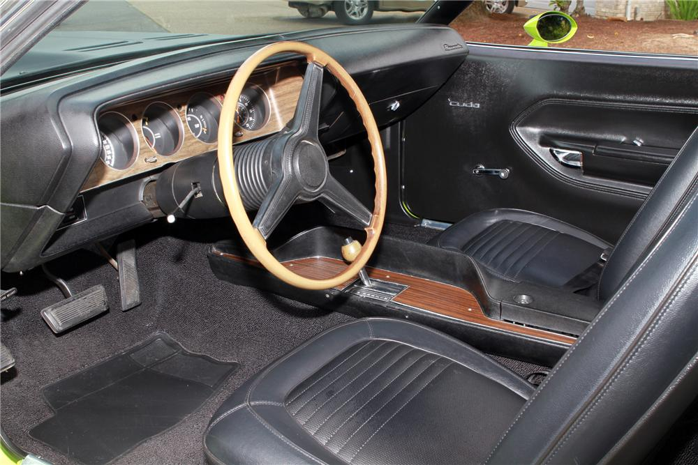 1970 PLYMOUTH CUDA AAR 2 DOOR - Interior - 116067