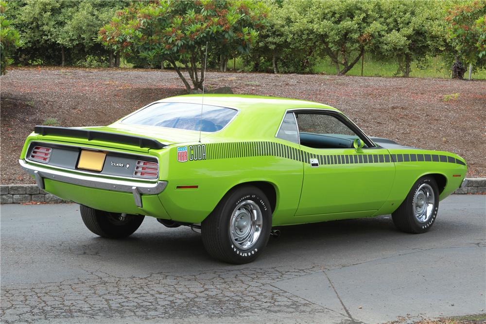 1970 PLYMOUTH CUDA AAR 2 DOOR - Rear 3/4 - 116067