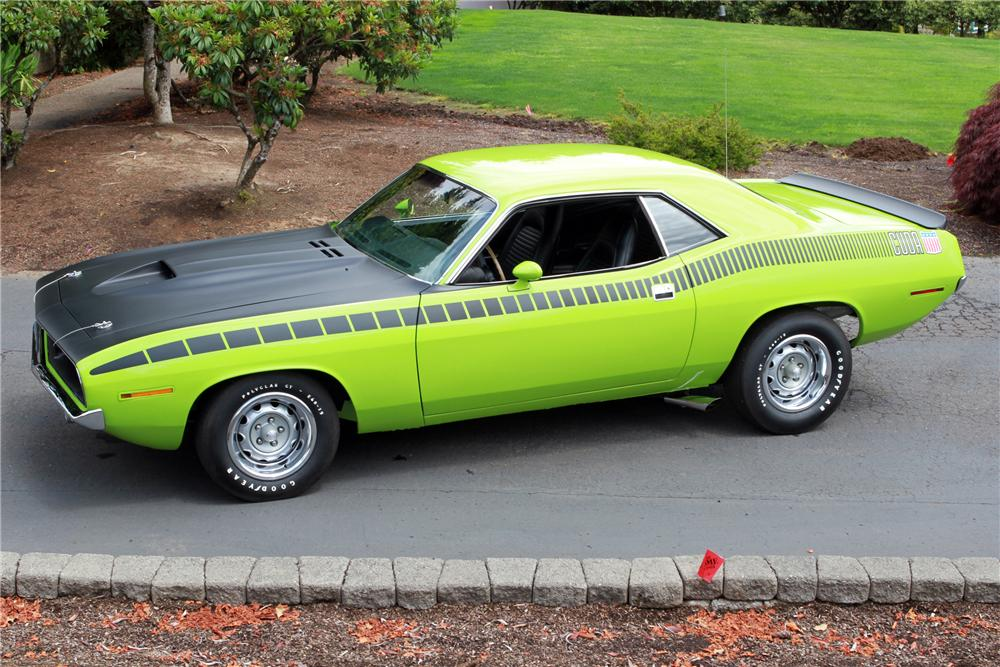 1970 PLYMOUTH CUDA AAR 2 DOOR - Side Profile - 116067