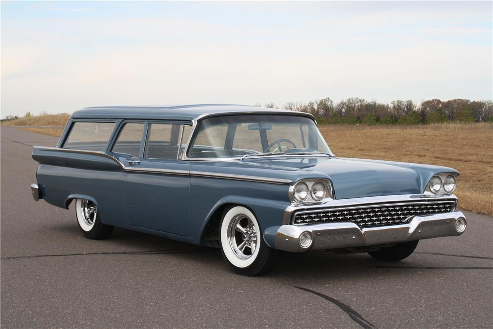 1959 FORD RANCH WAGON 2 DOOR - Front 3/4 - 116112