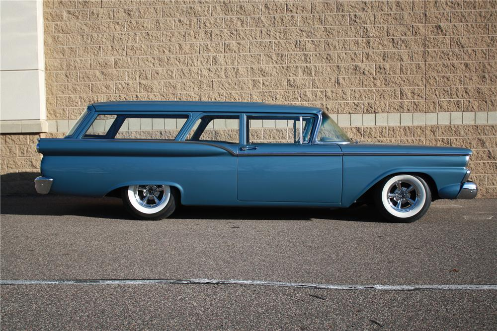 1959 FORD RANCH WAGON 2 DOOR - Side Profile - 116112