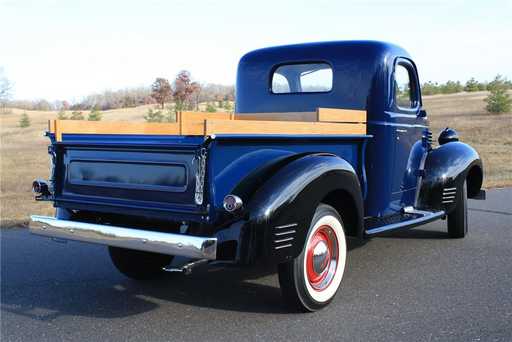 1940 PLYMOUTH PT 105 PICKUP - Rear 3/4 - 116115