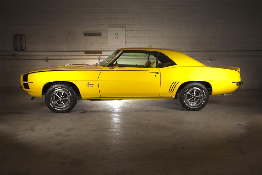 1969 CHEVROLET CAMARO SS COUPE - Side Profile - 116119