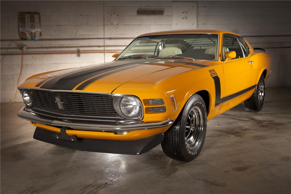 1970 FORD MUSTANG BOSS 302 FASTBACK - Front 3/4 - 116120