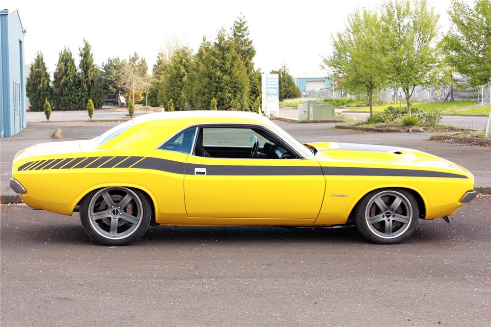 1971 DODGE CHALLENGER CUSTOM 2 DOOR HARDTOP - Side Profile - 116121