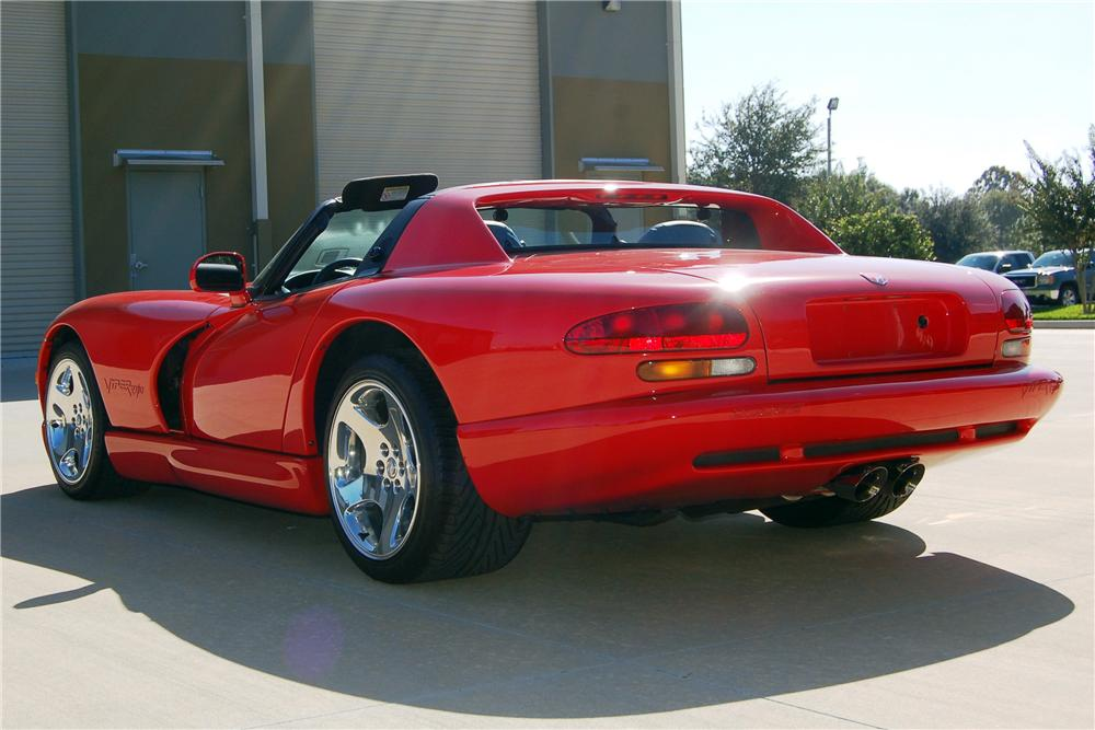 2001 DODGE VIPER RT/10 2 DOOR HARDTOP - Rear 3/4 - 116123