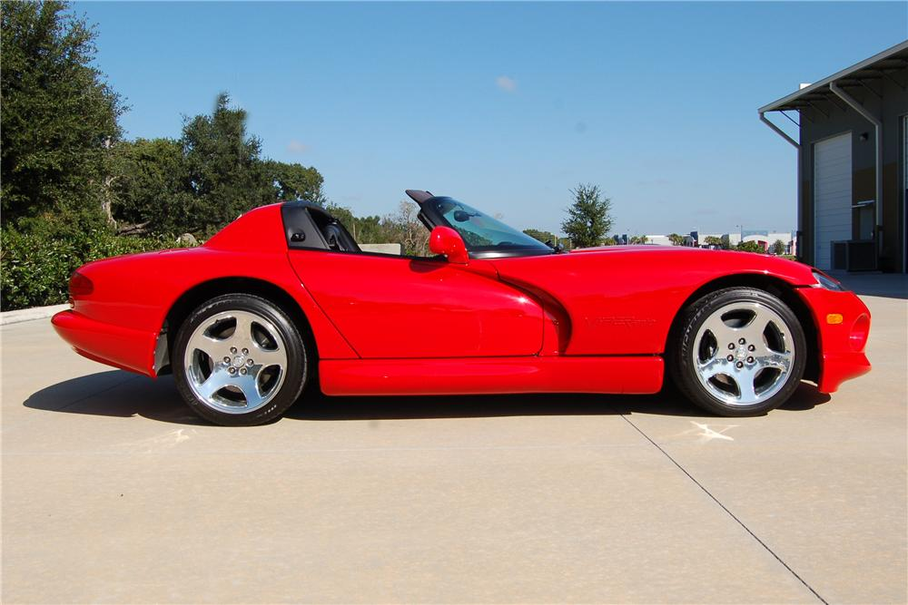 2001 DODGE VIPER RT/10 2 DOOR HARDTOP - Side Profile - 116123