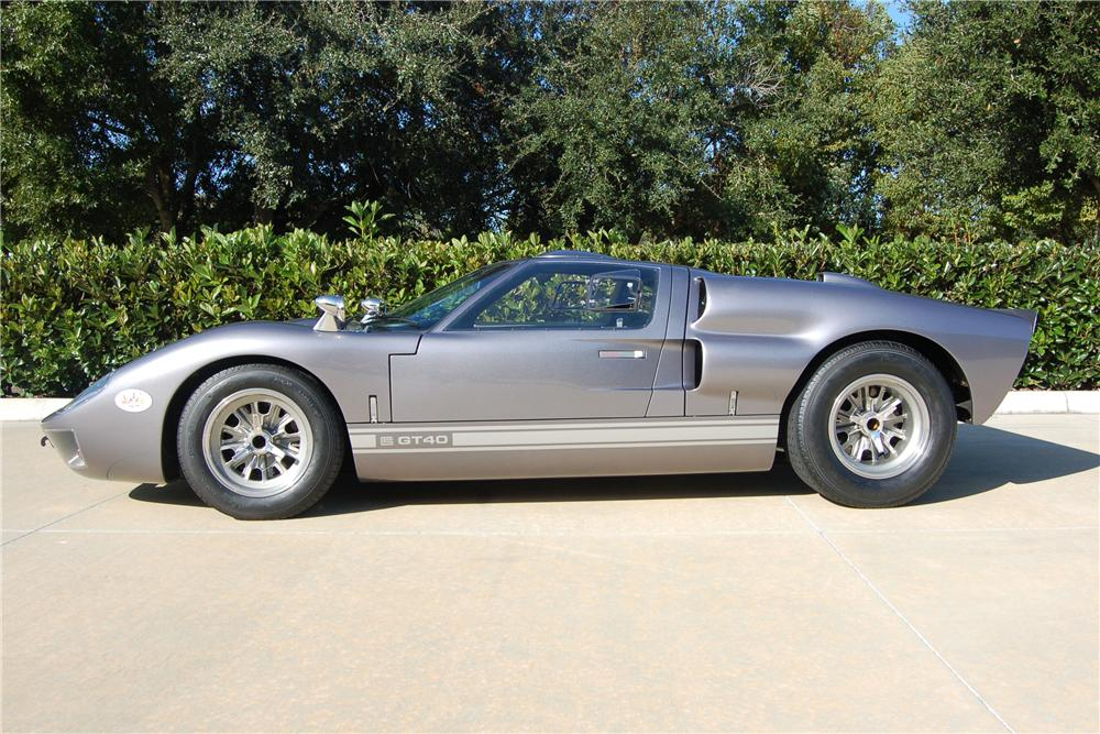 1966 SHELBY GT40 REPLICA 2 DOOR HARDTOP - Side Profile - 116125