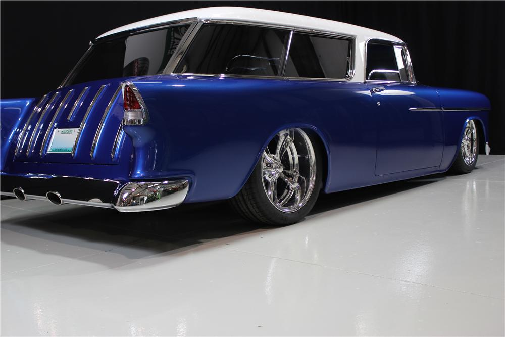1955 CHEVROLET NOMAD CUSTOM 2 DOOR HARDTOP - Rear 3/4 - 116139