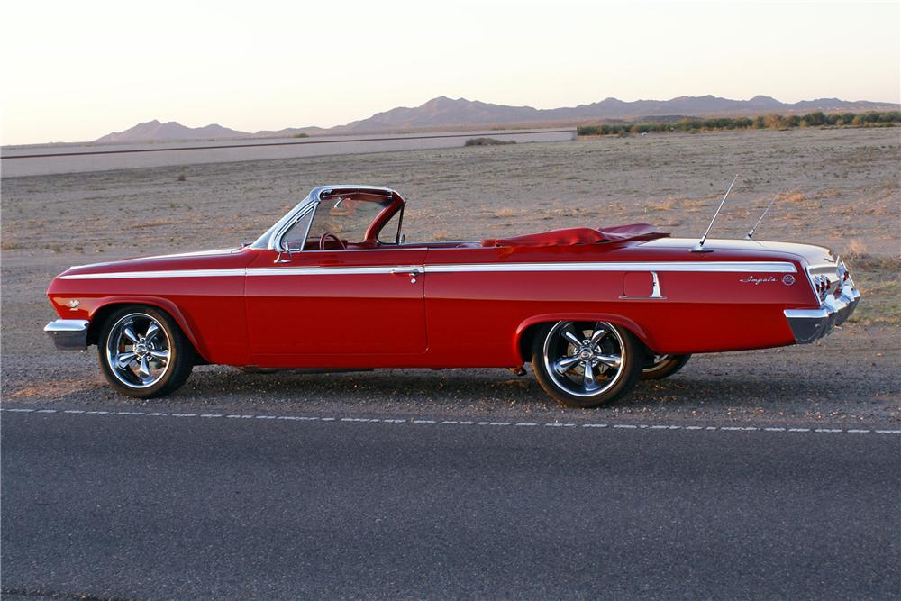1962 CHEVROLET IMPALA SS CUSTOM CONVERTIBLE - Side Profile - 116149