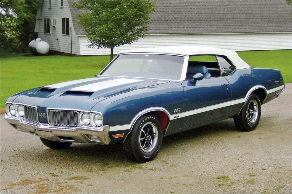 1970 OLDSMOBILE 442 W30 CONVERTIBLE - Front 3/4 - 116154