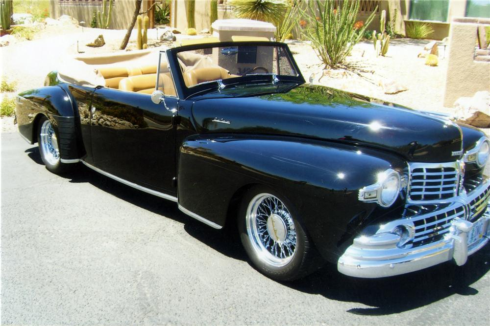1948 LINCOLN CONTINENTAL CUSTOM CABRIOLET - Front 3/4 - 116160