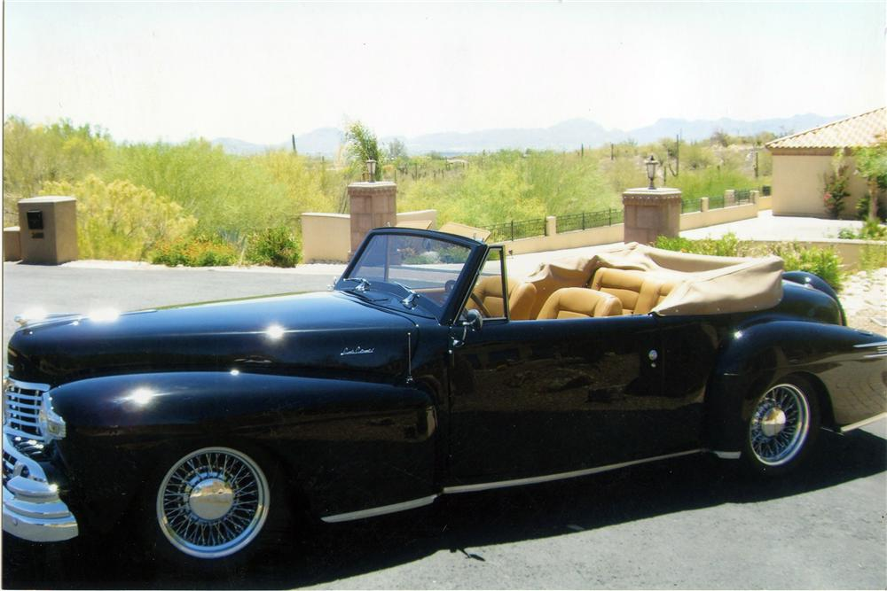 1948 LINCOLN CONTINENTAL CUSTOM CABRIOLET - Side Profile - 116160