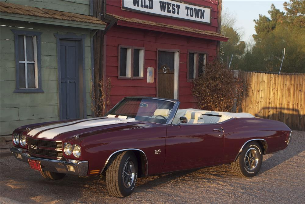 1970 CHEVROLET CHEVELLE MALIBU SS CONVERTIBLE - Front 3/4 - 116166