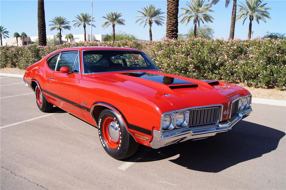 1970 OLDSMOBILE 442 W30 POST COUPE - Side Profile - 116181