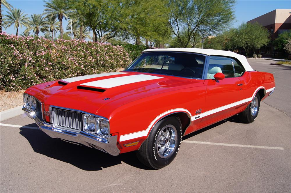 1970 OLDSMOBILE 442 W30 CONVERTIBLE - Front 3/4 - 116182